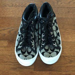 Coach Francesca Black / Gray sneakers.